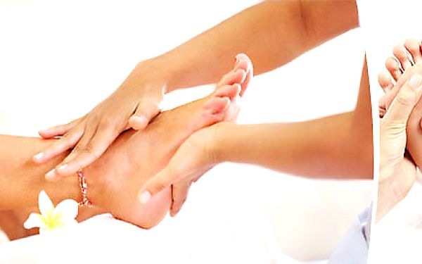 65minutová masáž nohou a masáž plosek nohou