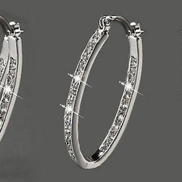 Luxusní náušnice z chirurgické oceli 316L vykládané krystalky za 249 Kč