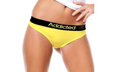 Tanga Addicted žlutá