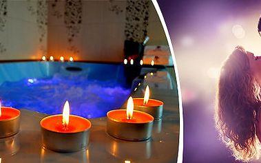 Romantická valentýnská vířivka pro 2 osoby na 90 minut