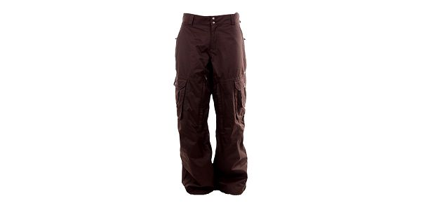 Pánské hnědé lyžařské kalhoty Fundango s membránou