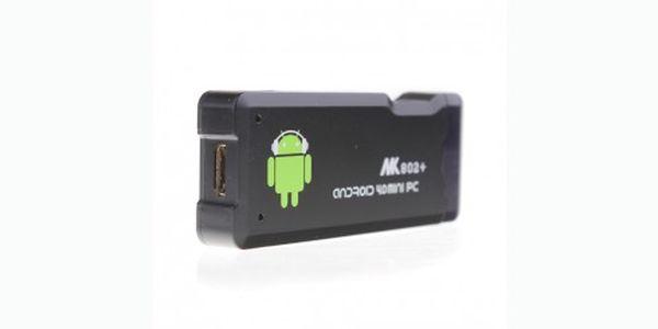 Pouhých 1099 Kč za mini počítač s Androidem 4.0. Počítač je velký jako běžný flashdisk, snadno k němu připojíte monitor, TV, dokáže přehrávat hudbu a videa. Ideální pro surfování a vyřizování e-mailů na cestách.