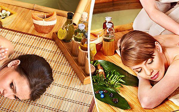 Orientální olejová masáž s lávovými kameny a indickou masáží hlavy pro 2 - dárek k Valentýnu