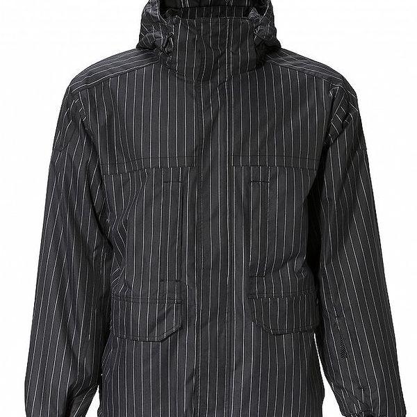 Pánská černá proužkovaná bunda Fundango s membránou