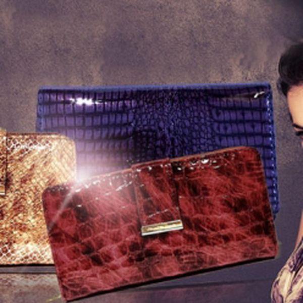Elegantní DÁMSKÉ PENĚŽENKY z pravé KŮŽE, jen za 699 Kč VČETNĚ POŠTOVNÉHO! KVALITNÍ HOVĚZÍ KŮŽE s lakovaným povrchem, odolným vůči poškrábání! Vybrat si můžete z několika modelů a barevných provedení! Sleva 56%!