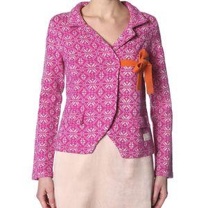 Úžasný pletený kabátek - pink 233