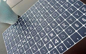 Tapetka Scrabble Denim (21,5 x 30,7 cm)