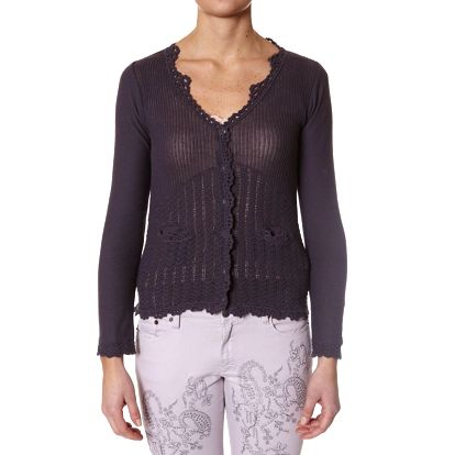 Nádherný jemný romantický svetřík - mid grey 406