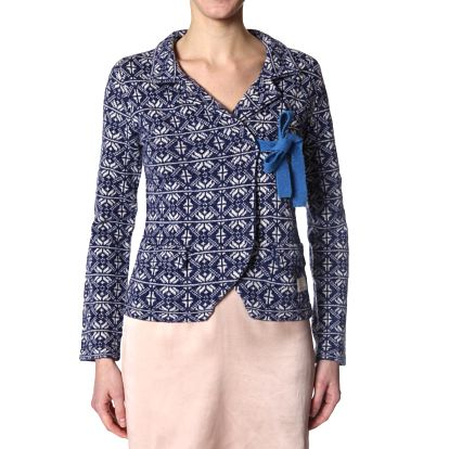 Úžasný pletený kabátek - mid indigo 233