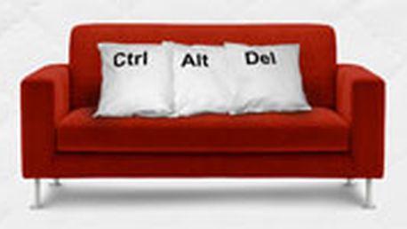 Sada tří luxusních polštářů Ctrl + Alt + Del - ideální pro restart na vaší pohovce