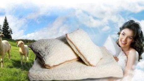 Merina ovčí deka a 2 polštáře. Vhodná pro alergiky.