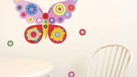 Tapeta - motýl růžový (21 x 30 cm)