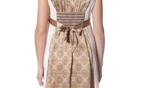 Nádherné bavlněné šaty - chalk 496 se saténovou vsadkou