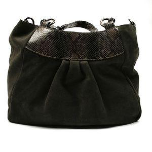 Dámská tmavě zelená semišová kabelka Acosta