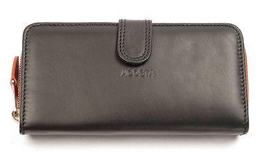 Dámská černo-oranžová peněženka Acosta