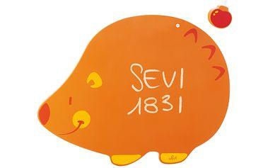 Dětská tabule ve tvaru ježečka