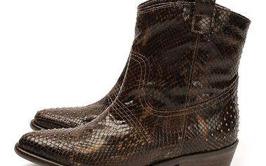 Dámské kovbojské boty s imitací hadí kůže Acosta