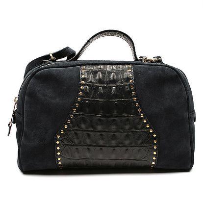 Dámská černá kabelka s imitací hadí kůže Acosta
