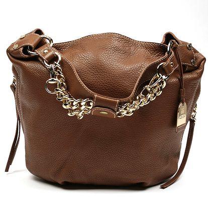 Dámská hnědá kabelka s třásněmi Acosta