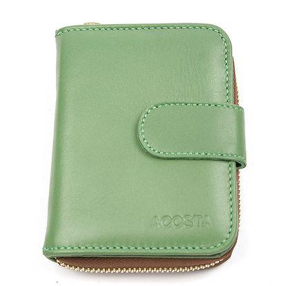 Dámská malá zelená peněženka Acosta