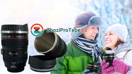 Praktický termohrnek ve tvaru objektivu za skvělých 249 kč včetně poštovného! Skvělý tip na dárek pro vášnivého fotografa! Sleva 50%!