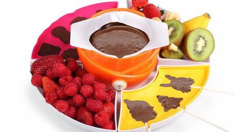 Sada pro čokoládovou párty! Tristar CF 1604 - čokoládové fondue