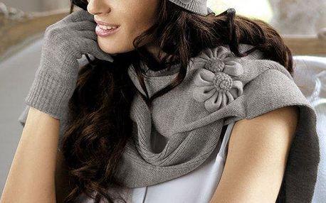 Elegantní pletená šála Ariadna šedá