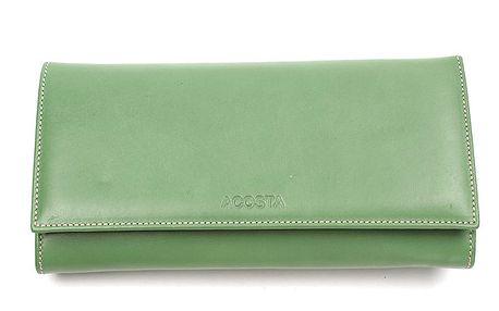 Dámská zelená podlouhlá peněženka Acosta