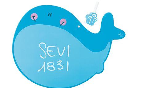 Dětská tabule ve tvaru velryby