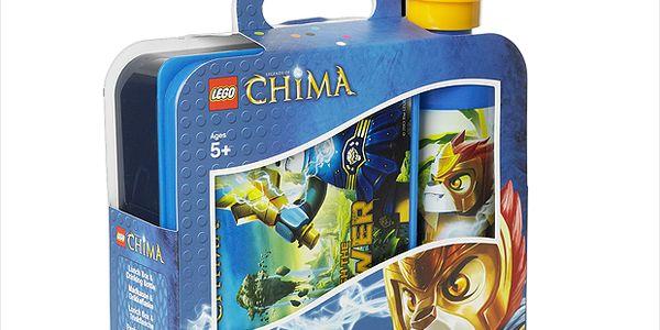 LEGO svačinový set Legends of Chima (láhev+box) více barev