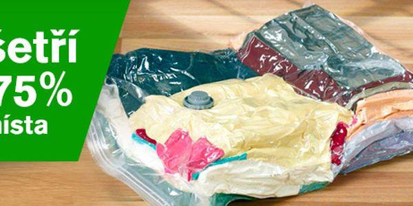 4 vakuové pytle (60*80 cm) ke skladování oblečení: ušetříte až 75 % prostoru!