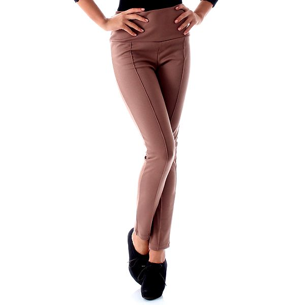 Dámské béžové legíny Caramella Fashion