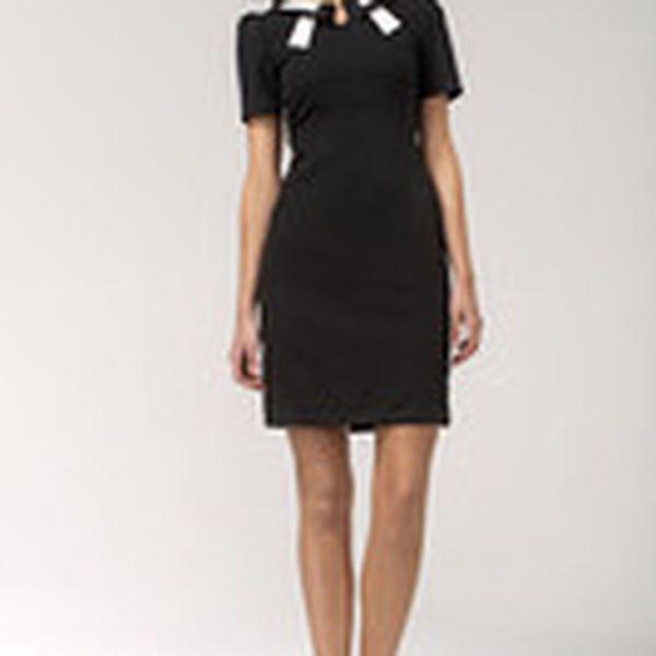 Šaty Nife S33 černo/bílé