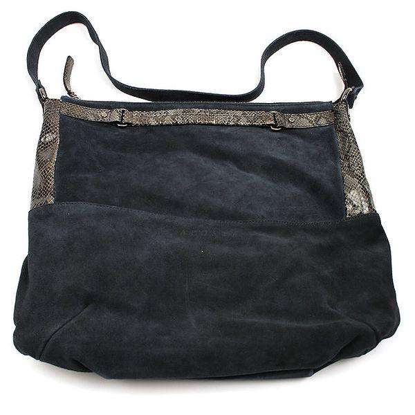 Dámská kožená tmavomodrá kabelka Acosta