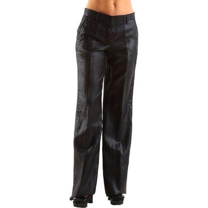 Široké dámské černé kalhoty s puky Calvin Klein