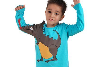 Modré tričko s drakem