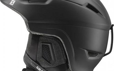 Salomon Ranger Black matt - lyžařská poloskořepinová helma