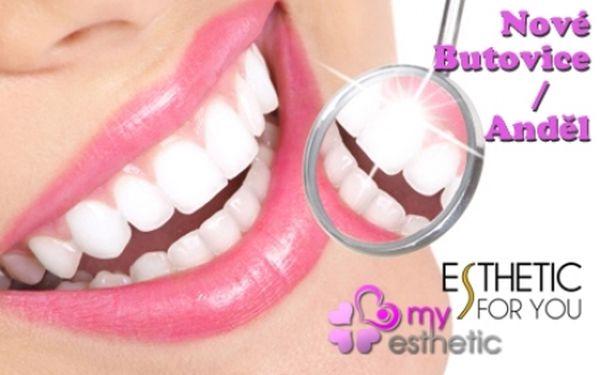 BĚLENÍ ZUBŮ BEZ PEROXIDU za fantastickou nízkou cenu! Profesionální studia na Andělu nebo v OC Galerie Butovice! Bezpečné a efektivní bělení zubů pro krásný zářivý úsměv rychle a bez námahy!