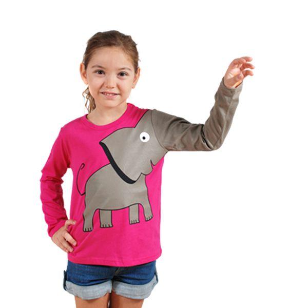 Parádní růžové tričko se slonem