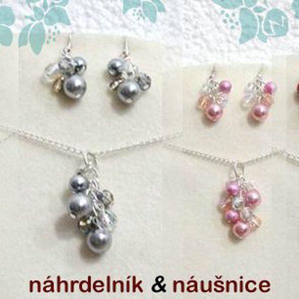 Krásná souprava náhrdelníku a náušnic, na výběr z 20 odstínů. Šperky jsou decentní, elegantní pro romantické duše. Šperk je vhodný jako romantický dárek k Valentýnu nebo si udělejte radost šperkem, který působí velice jemně a elegantně.