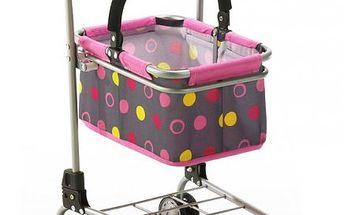 Bayer Chic Nákupní vozík s košíkem puntíky