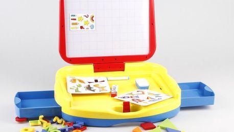 Alltoys Tabulka a doplňky v kufříku - kreativní pomůcka pro kreslení, psaní zpráv a hraní her