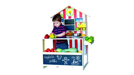 Woody Dětská dřevěná prodejna nabízí nekonečné hodiny hraní