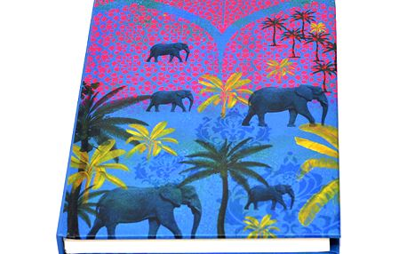 Originální fialovo-modrý sešit / blok Tamara Elephant
