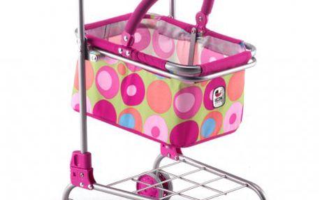 Bayer Chic Nákupní vozík s košíkem růžový