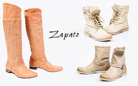 Kupon na slevu 1.500,- Kč na dámské boty z přírodní kůže