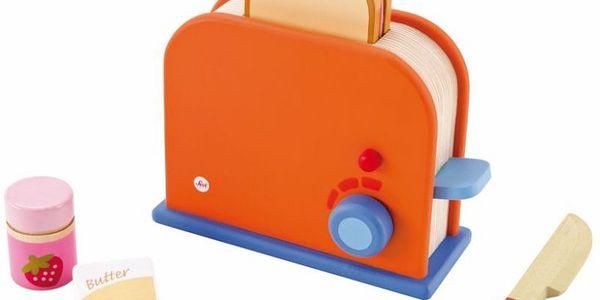 Sevi dřevěný toaster s příslušenstvím je skvělý set na přípravu chutné snídaně