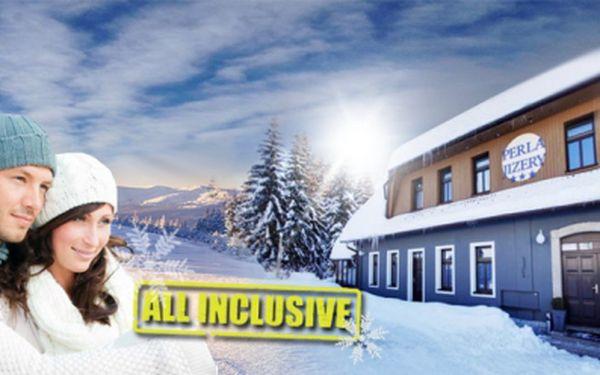 Luxusní zimní pobyt PRO DVA včetně SKIPASU a ALL INCLUSIVE! Krásný hotel Perla Jizery*** v Jizerských horách! SAUNA v ceně! Přijeďte až OSM DNÍ již od 4999! Sleva 51%!