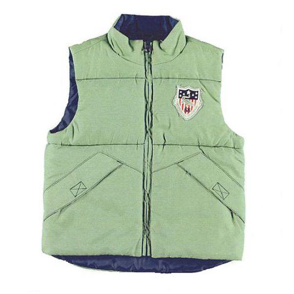 Zelená vesta (menší velikosti)