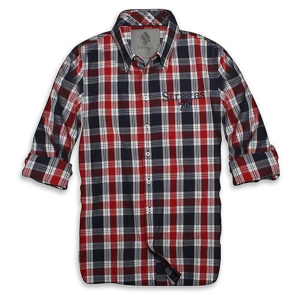 Pánská červeno-modrá kostkovaná košile Paul Stragas